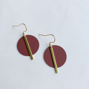 Jack & Freda Wine Solar Earrings