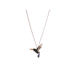 And Mary Blue Hummingbird Necklace