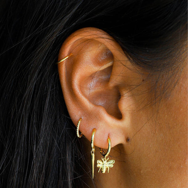 Lillys Amsterdam Gold Bee Huggy Earrings