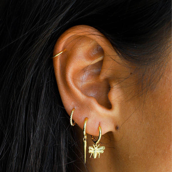 Lillys Amsterdam Gold June 8mm Huggy Earrings