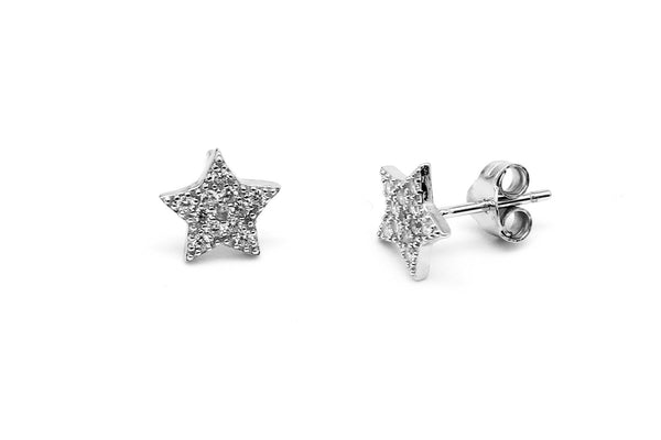 Boho Betty Silver Chastain Studs