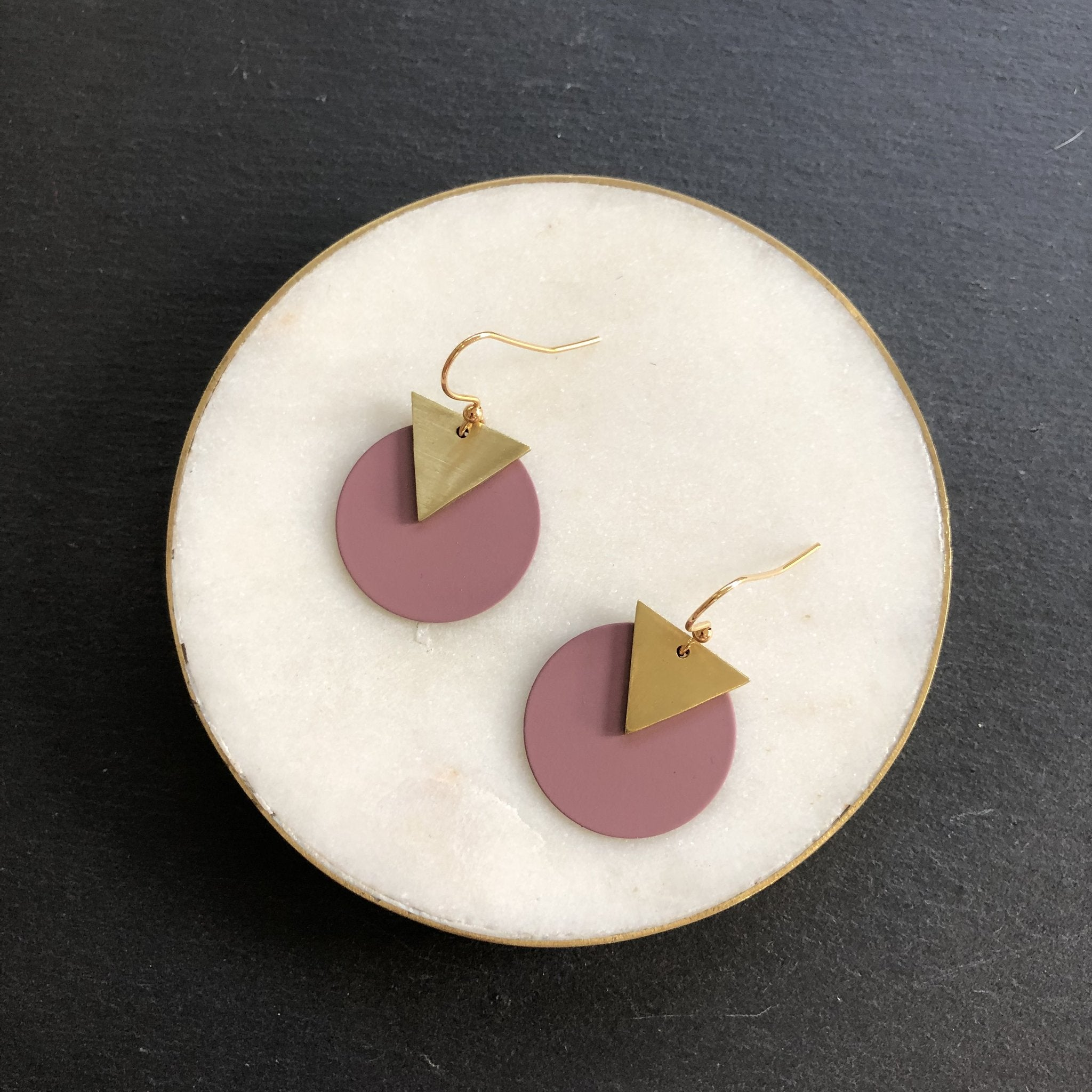 Jack & Freda Damson Disc Earrings