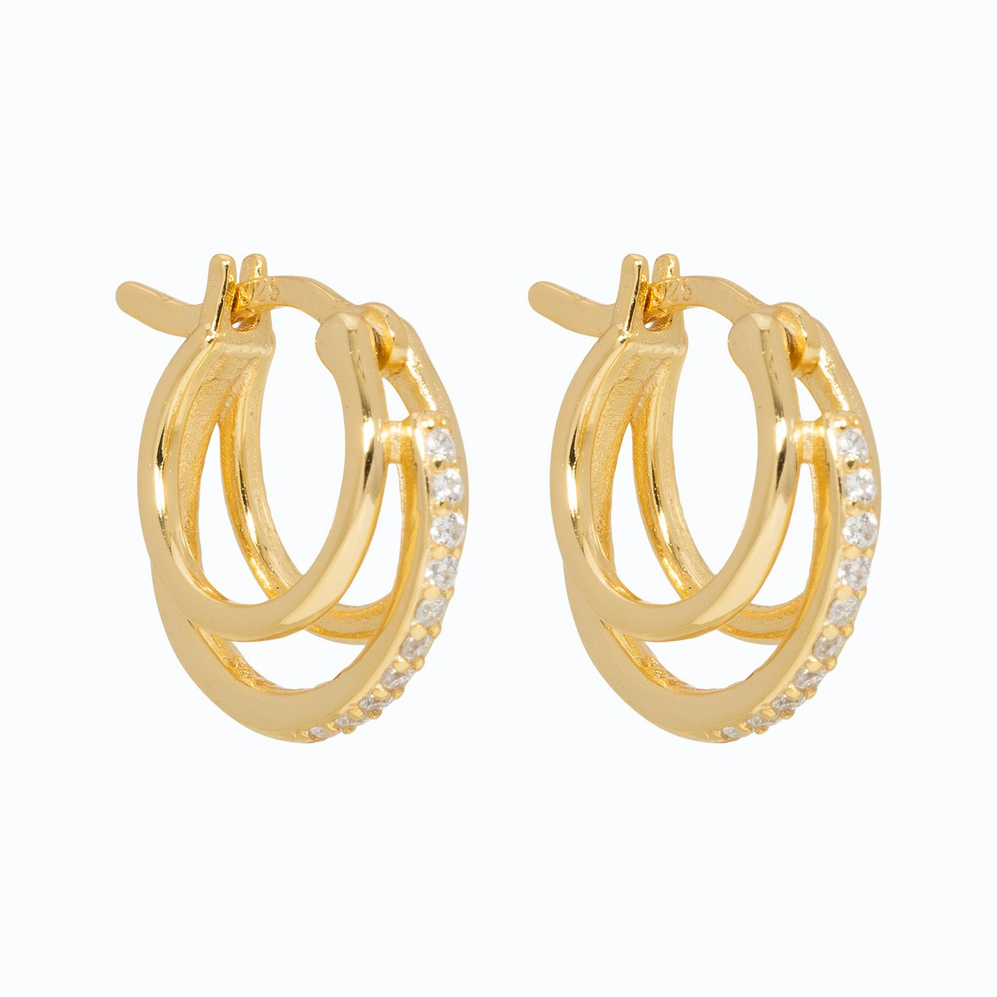 Lillys Amsterdam Gold Jolie Huggie Hoop Earrings