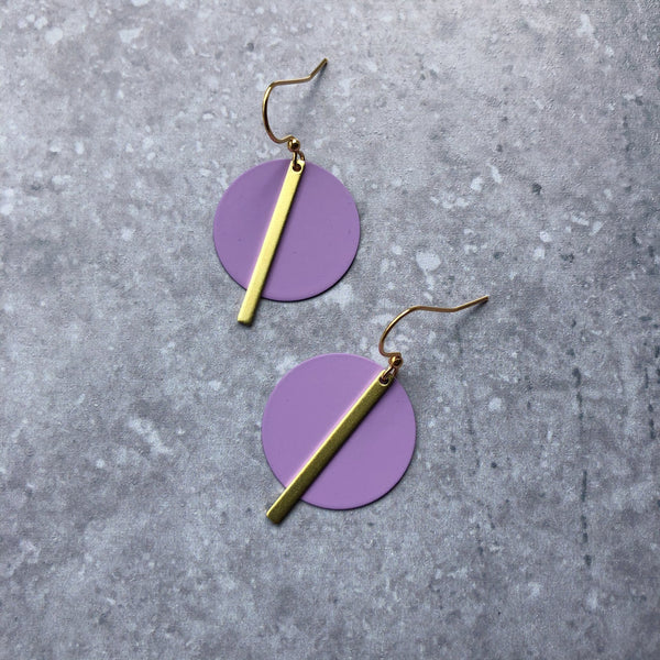 Jack & Freda Lilac Solar Earrings