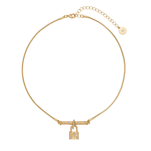 KT Bibi Bijoux Gold Padlock Necklace