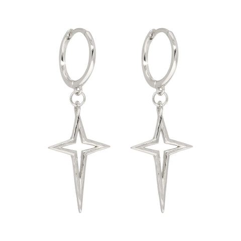Lillys Amsterdam Silver Roxi Star Earrings