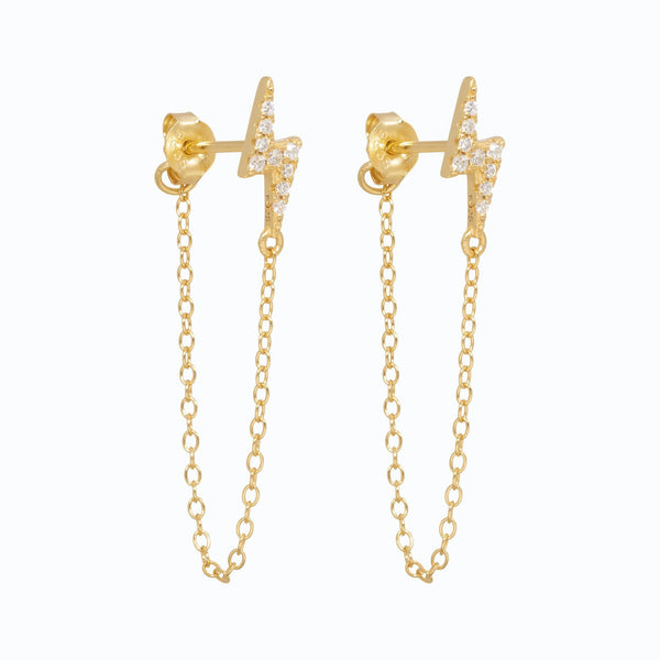 Lillys Amsterdam Gold Litty Chain Earrings