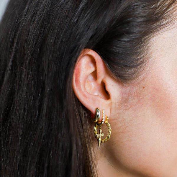 Lillys Amsterdam Gold Nora Huggie Hoop Earrings