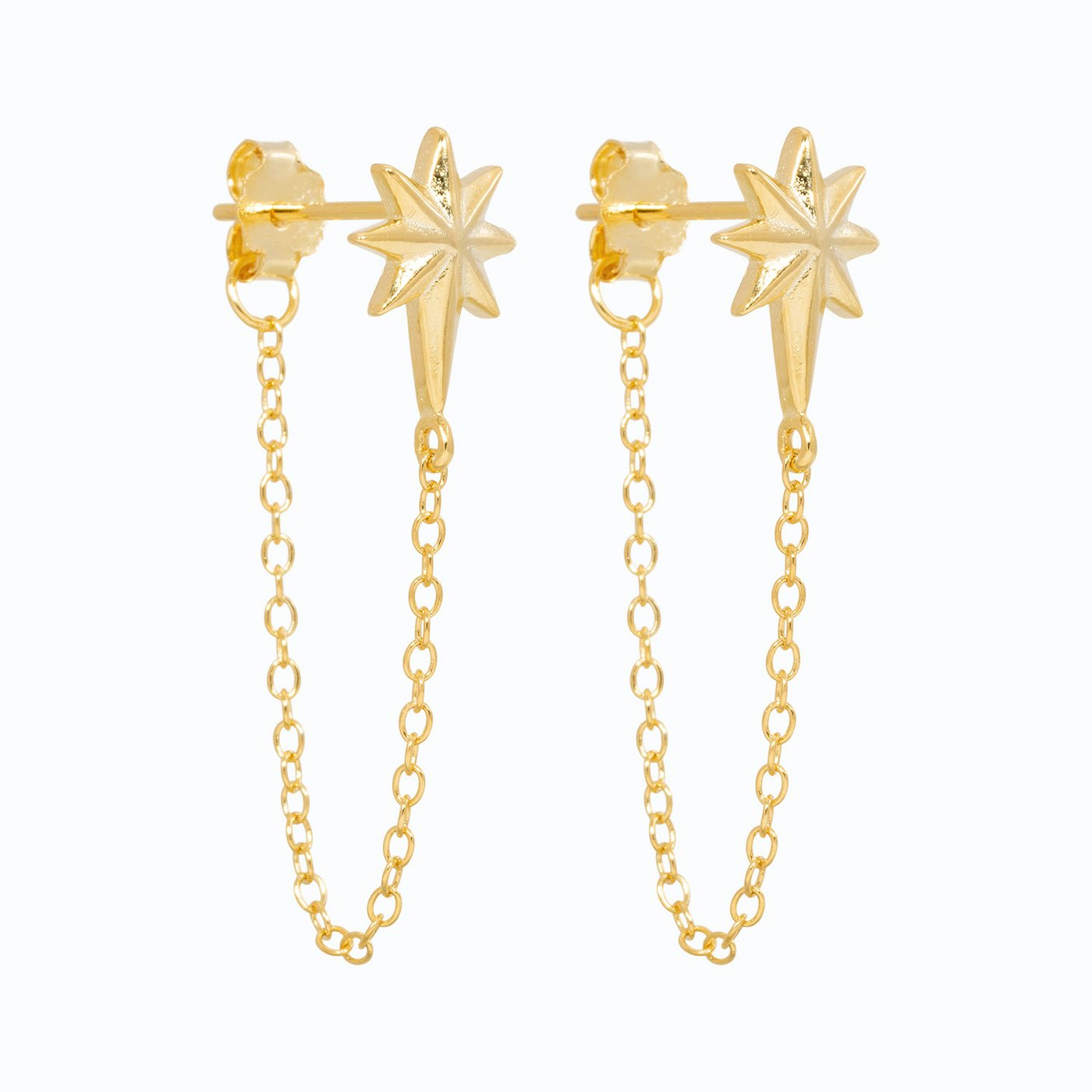 Lillys Amsterdam Star Chain Earrings