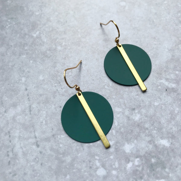 Jack & Freda Teal Solar Earrings
