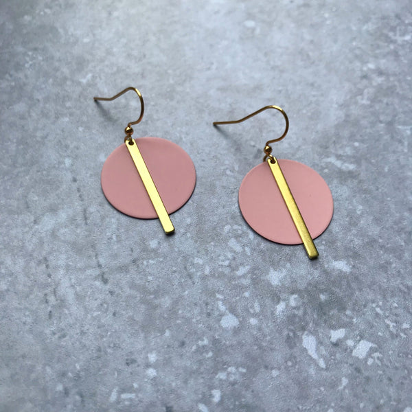 Jack & Freda Dusky Rose Solar Earrings
