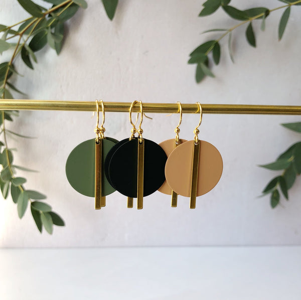 Jack & Freda Olive Solar Earrings