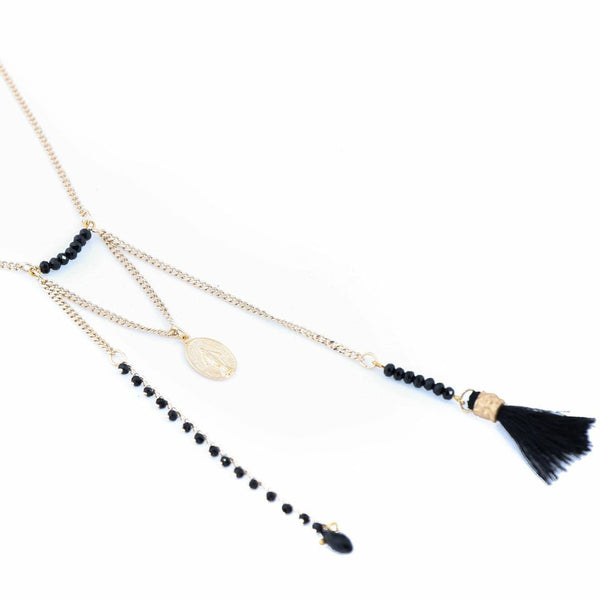 Bibi Bijoux Black Tassel necklace
