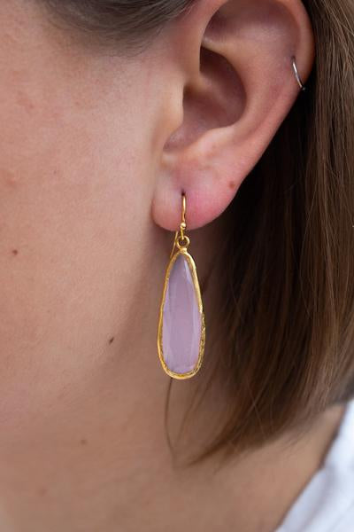 My Doris Mulberry Long Drop Earrings