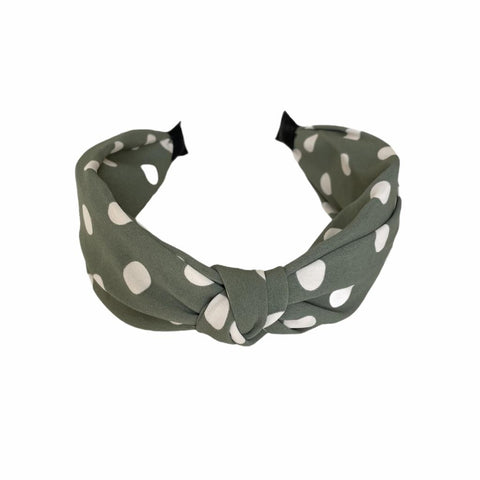 Last True Angel, Sage Polka Dot Hairband