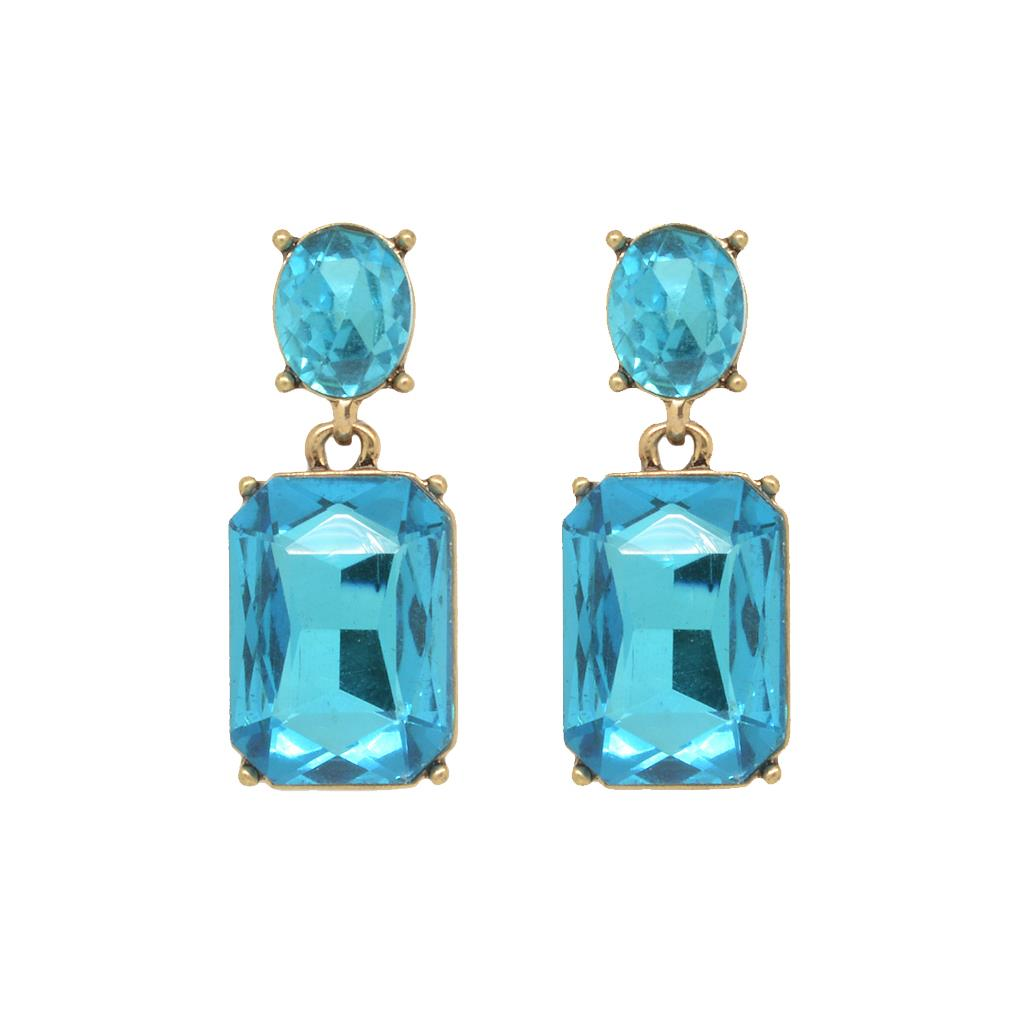 Last True Angel Turquoise Crystal Earrings