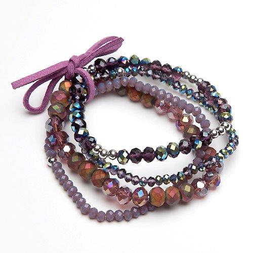 eliza-gracious-purple-multi-beaded-charm-bracelet