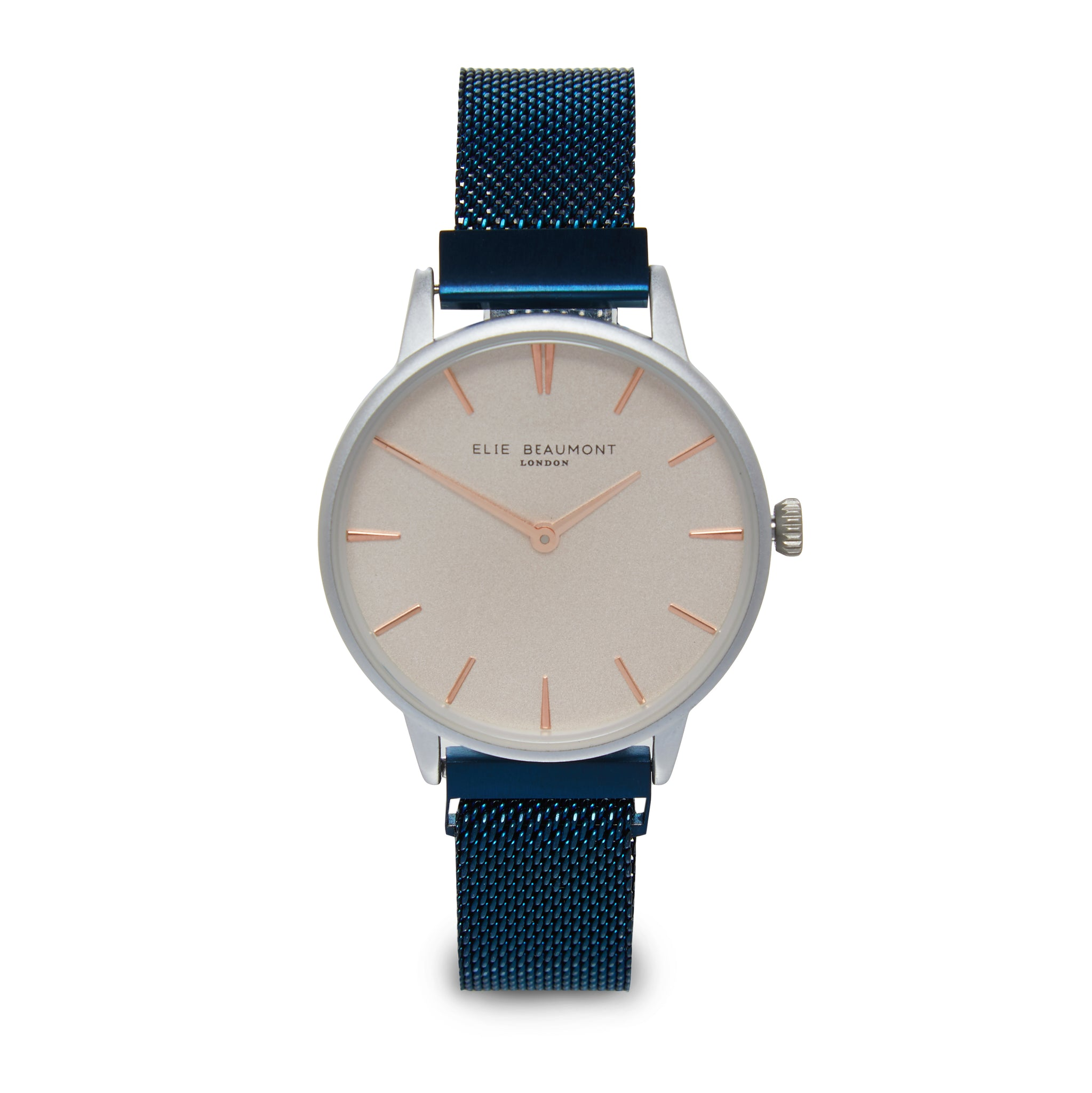 elie-beaumont-navy-holborn-mesh-watch