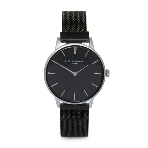 elie-beaumont-black-holborn-mesh-watch
