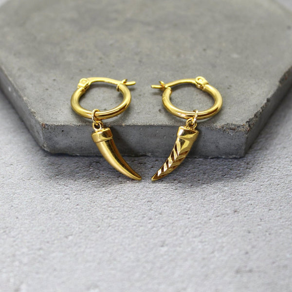 Mara Studio Gold Filled Horn Hoop Earrings