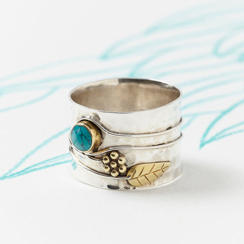 charlotte-s-web-turquoise-silver-flower-ring