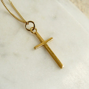 lime-tree-design-gold-cross-necklace
