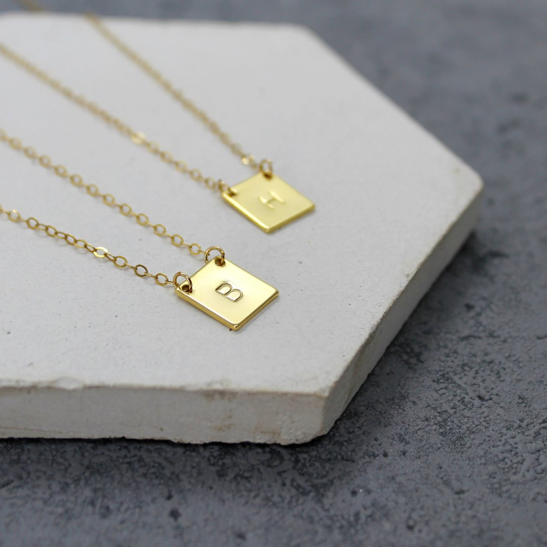 Mara Studio Personalised Square Initial Necklace
