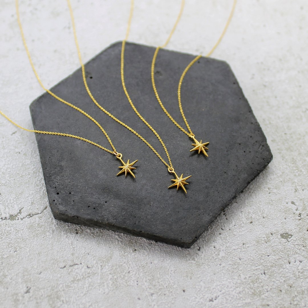 Mara Gold Star Necklace