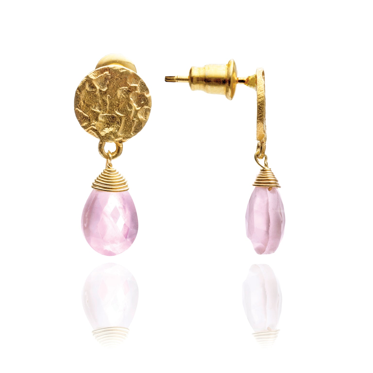 azuni-kate-pink-chalcedony-drop-earrings