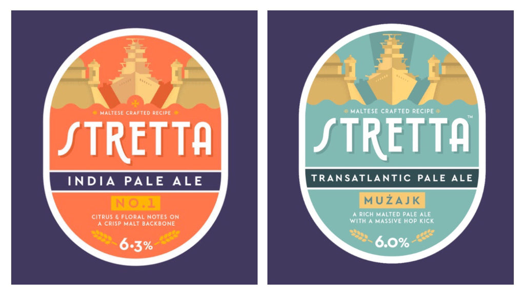 Stretta Maltese craft beer labels by Ed Dingli