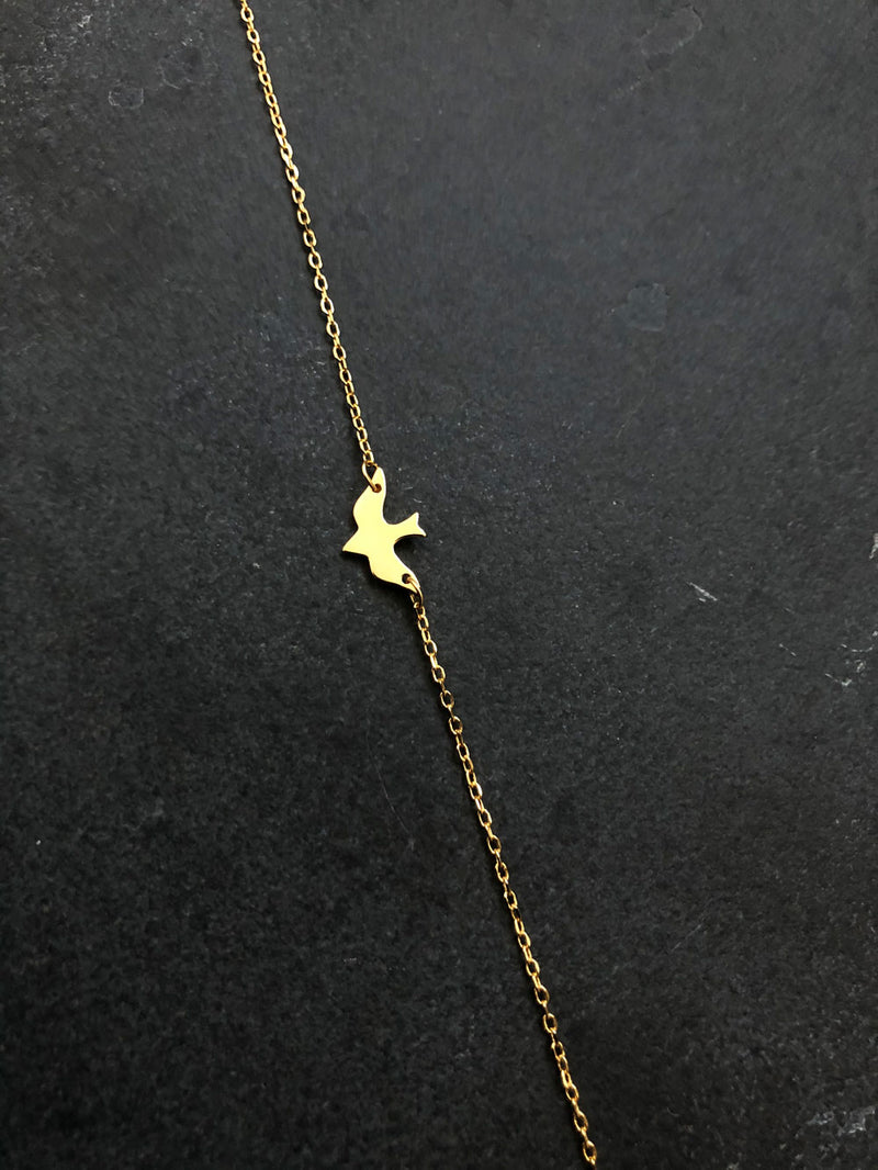 BIRDY NECKLACE 18K GOLD PLATED