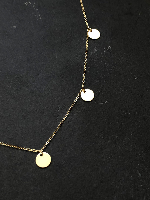 COIN NECKLACE 18K GOLD PLATED