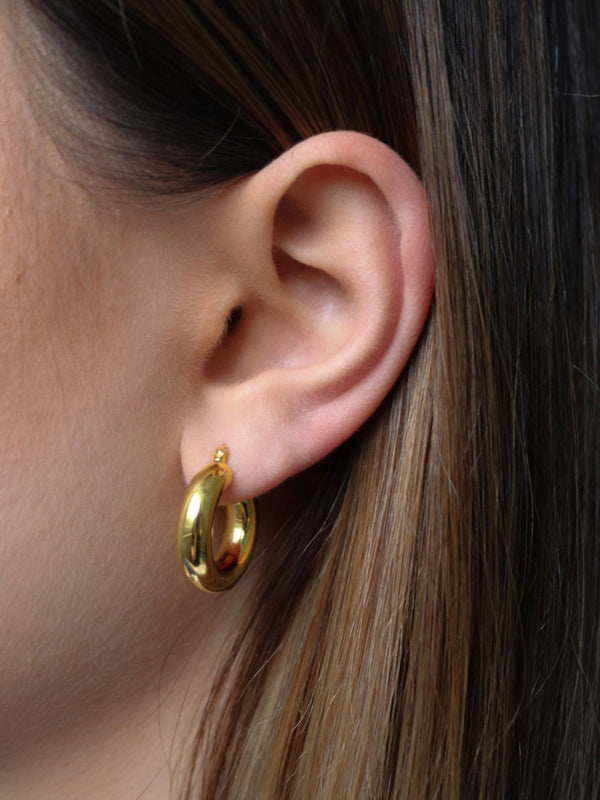 CLASSIC HOOPS 18K GOLD PLATED
