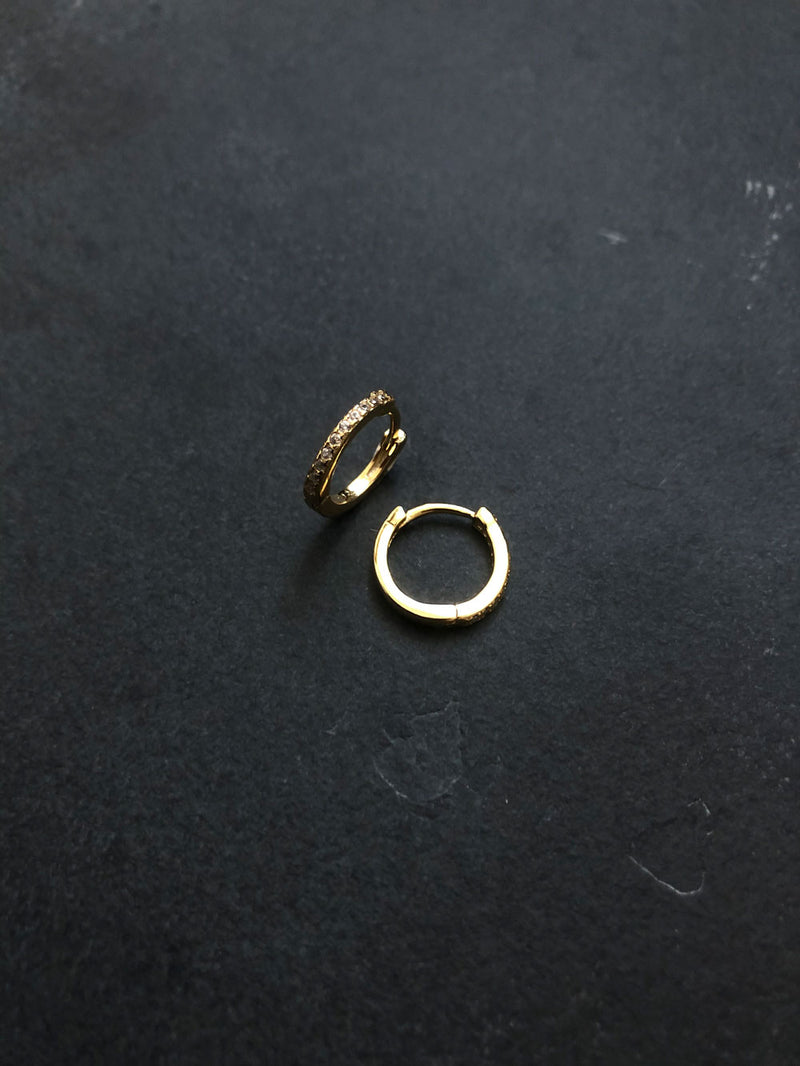 SHINY EARRINGS 18K GOLD PLATED