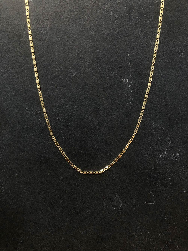 SIMPLE CHAIN 18K GOLD PLATED