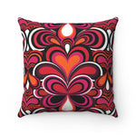 Psychedelic 70s Pattern Cushion Pink