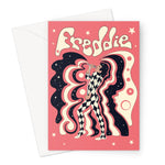 Freddie Mercury Pink Greeting Card