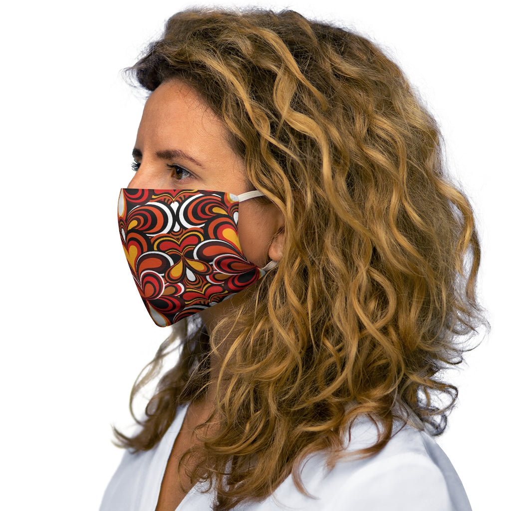 Psychedelic 70s Pattern Snug-Fit Face Mask
