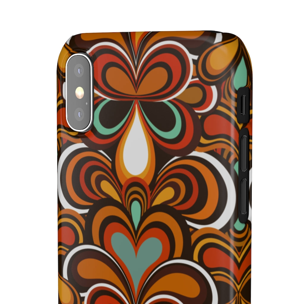 Psychedelic 70s Pattern Hard Snap on Phone Case