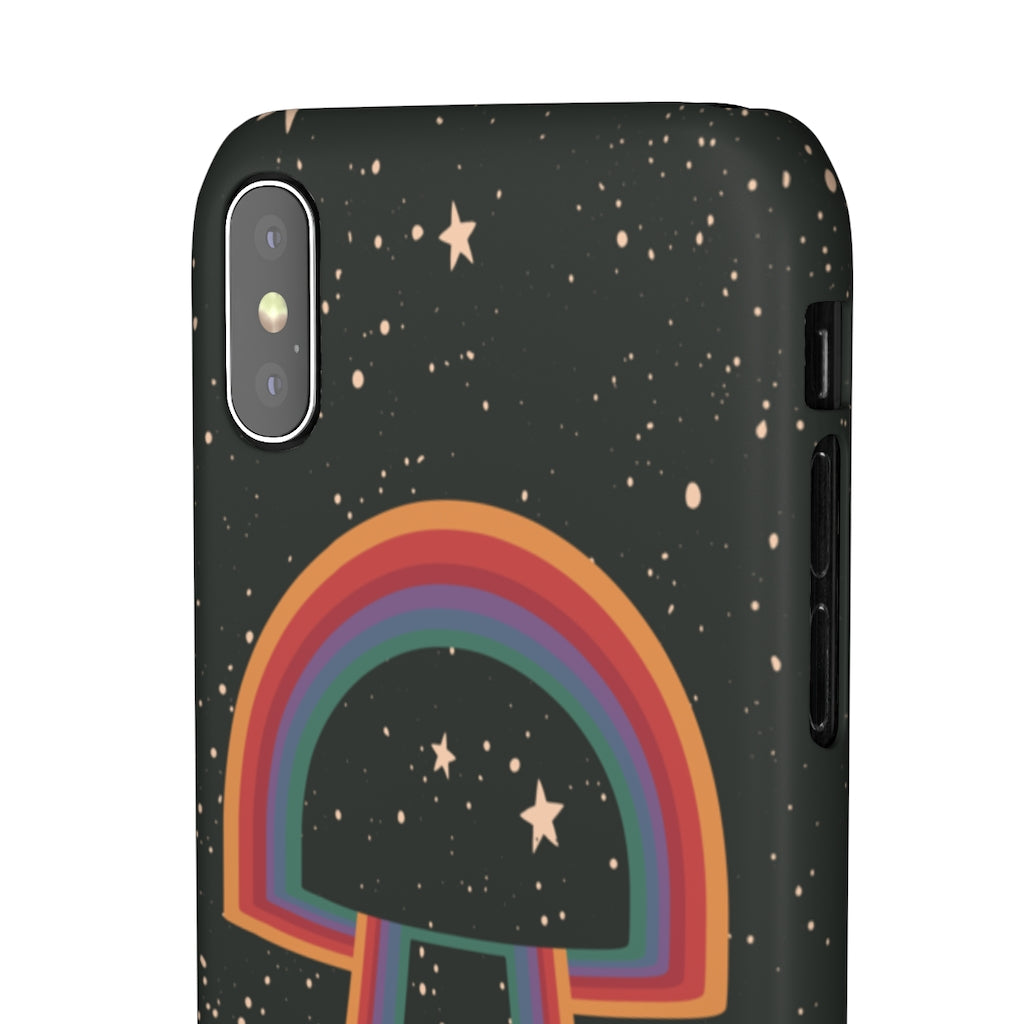 70s Cosmic Mushroom Hard Snap on Phone Case