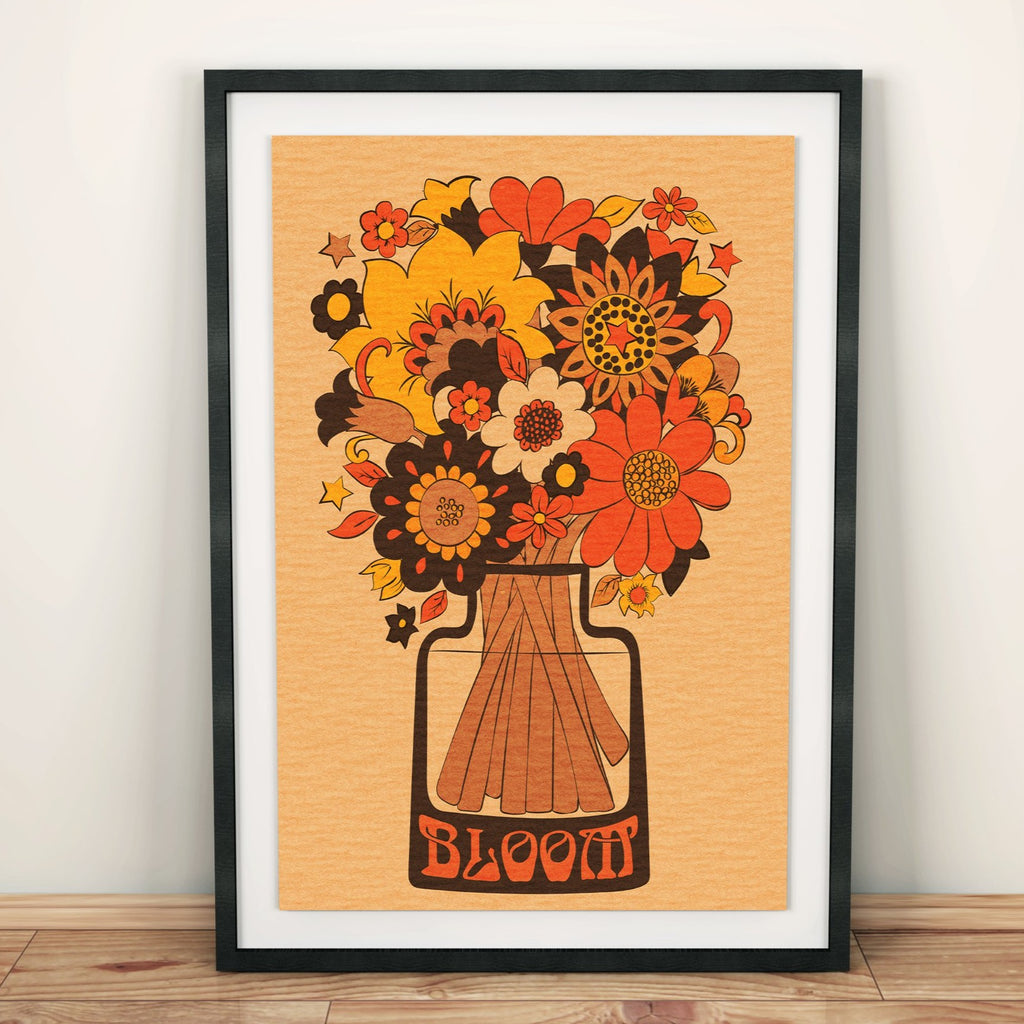 70s Bloom Art Print