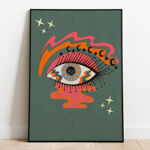 Mystic Eye, Portrait Print