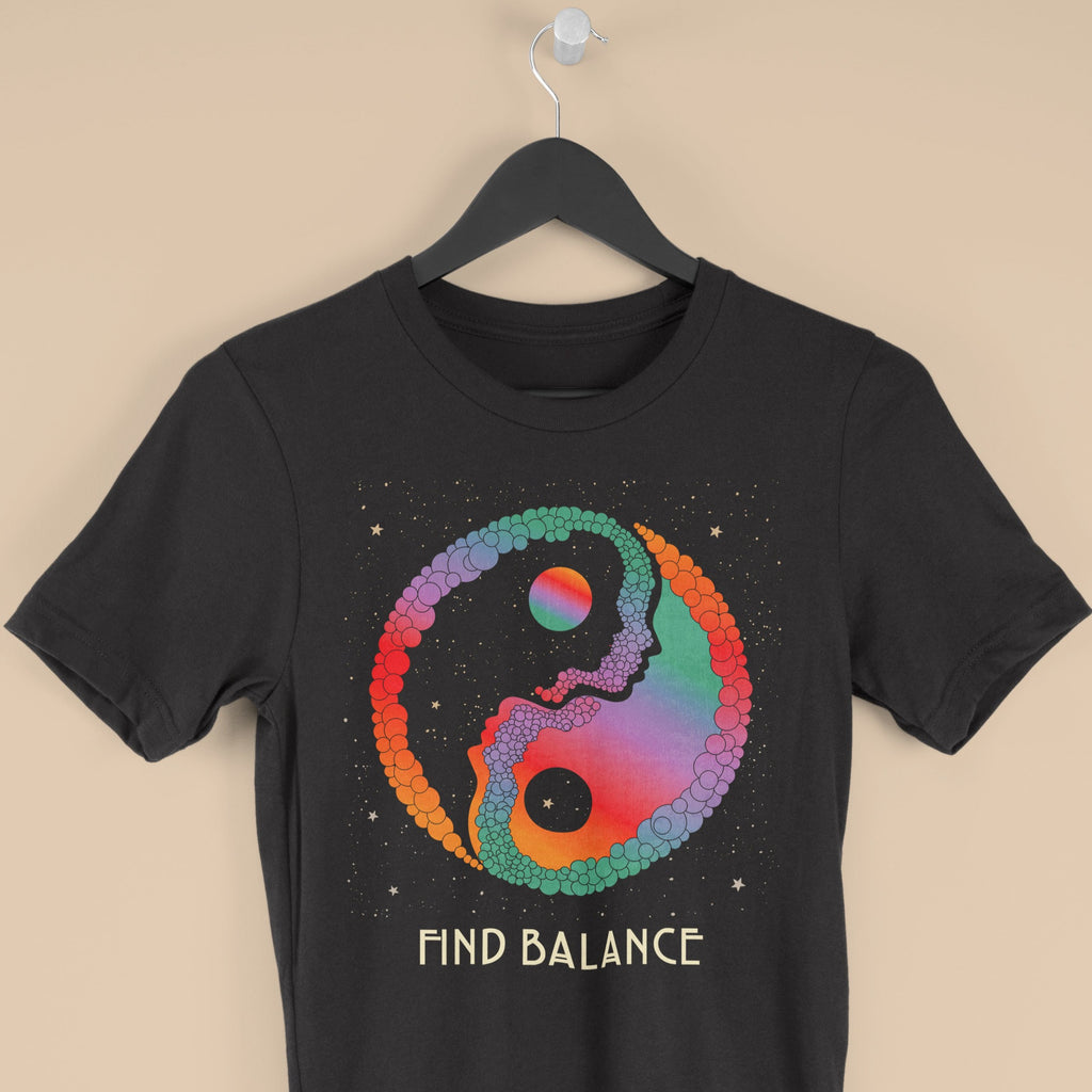 Find Balance, Yin and Yang T shirt
