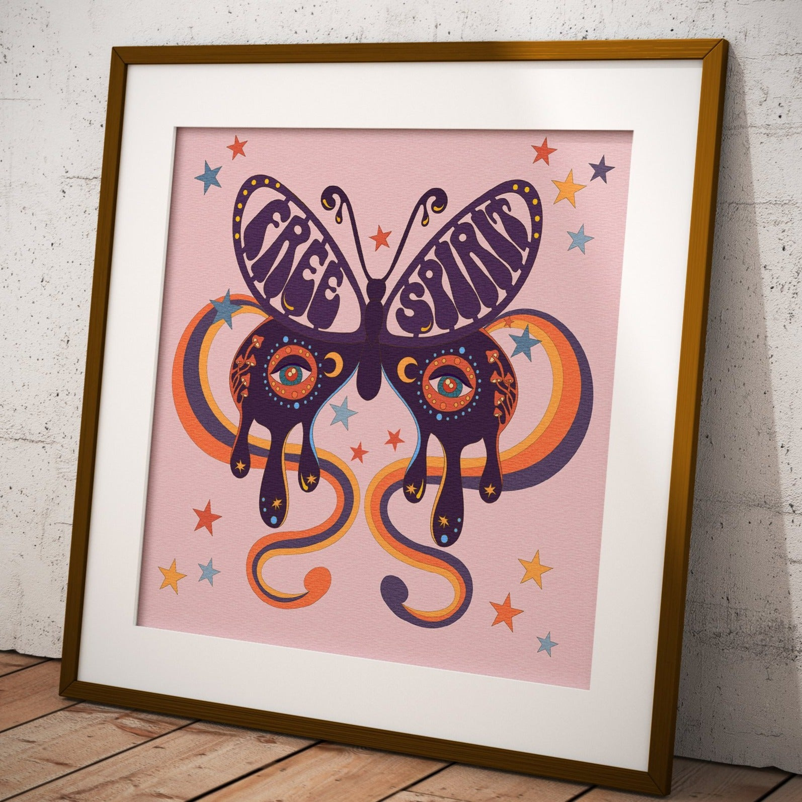 Free Spirit Butterfly Square Print