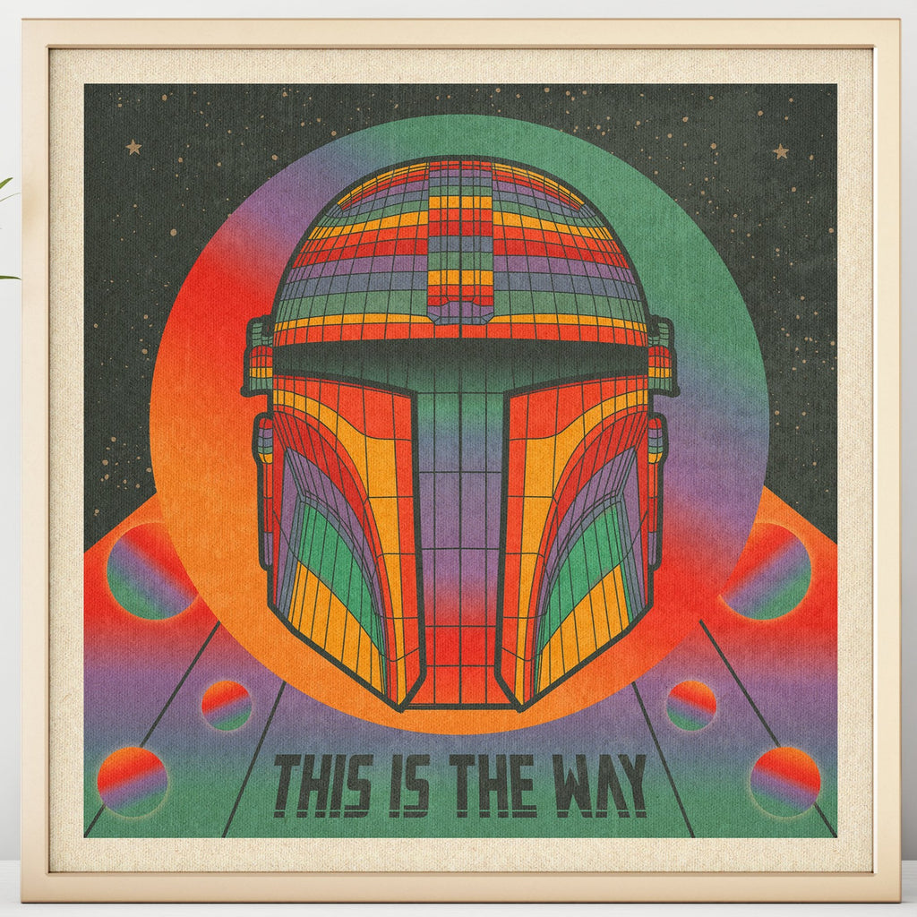 This Is The Way - Mando - Print