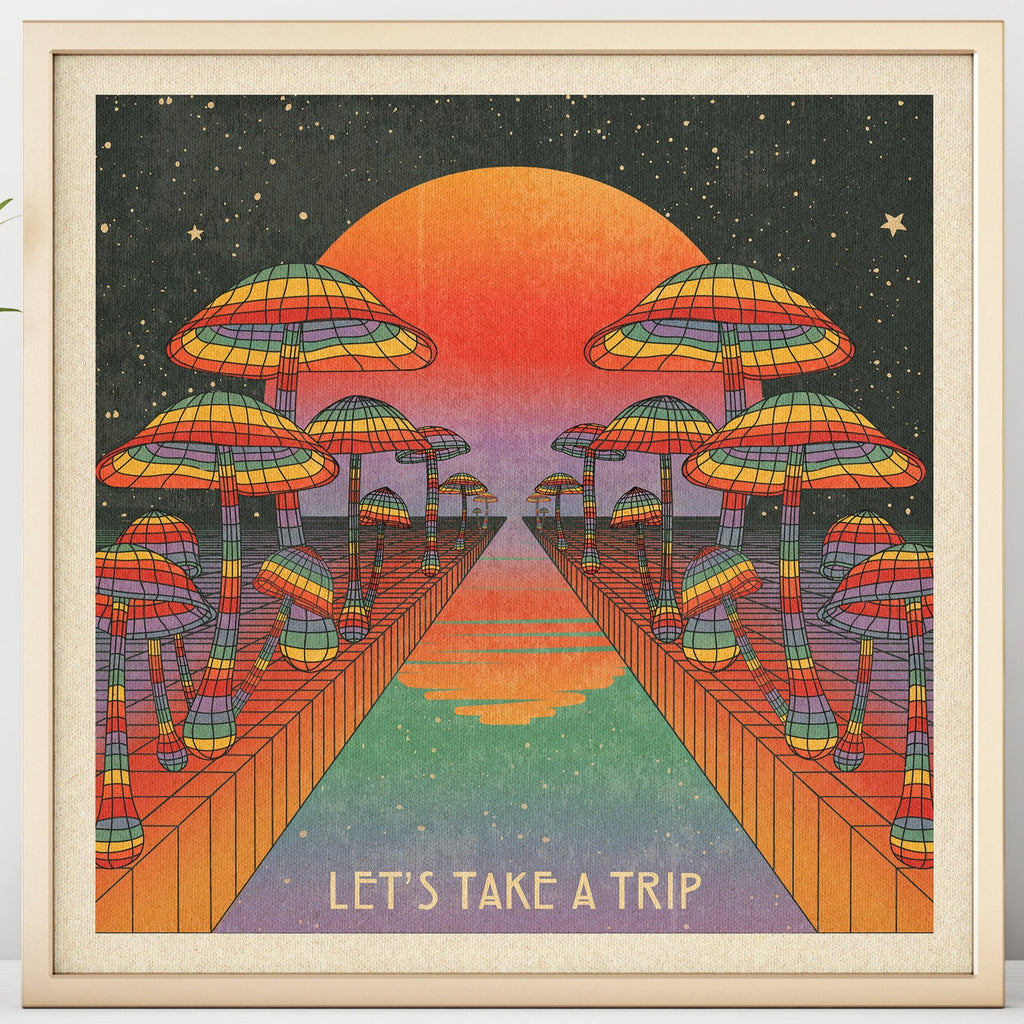 Rainbow River - Let's Take A Trip - Print
