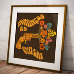 Happiness Is A Warm Gun - The Beatles Inspired Square Print
