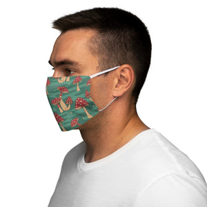 Fly Agaric Mushroom Pattern Snug-Fit Face Mask