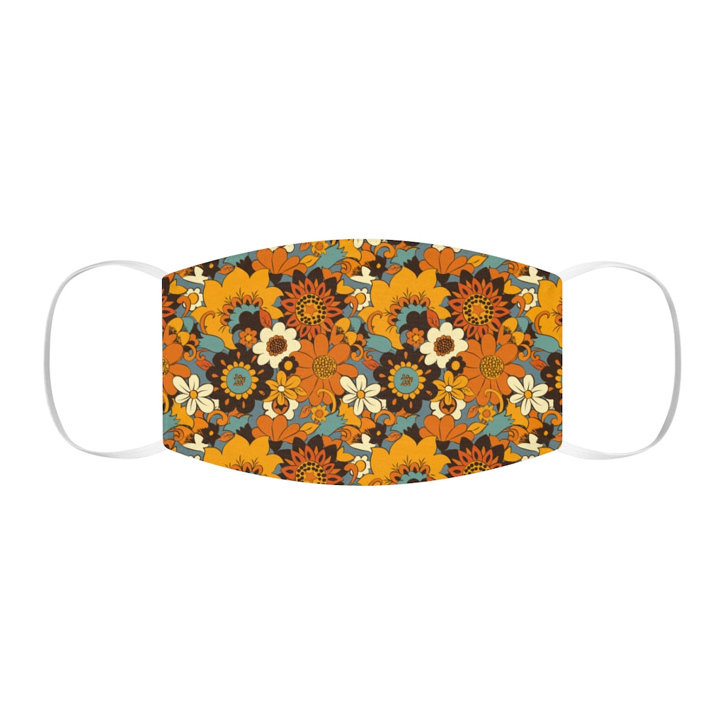70s Flower Power Snug-Fit Face Mask