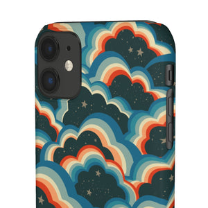 Cosmic Clouds Hard Snap on Phone Case Reds Blues
